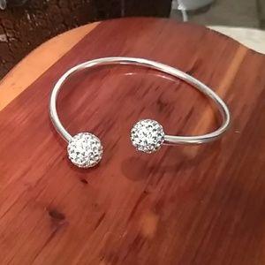 Jewelry - 925; sterling silver adjustable cuff bracelt